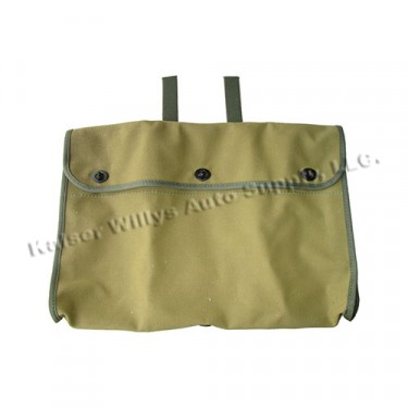 Canvas Storage Bag for Aft Side of Front Seat Frames Fits : 41-71 Jeep & Willys