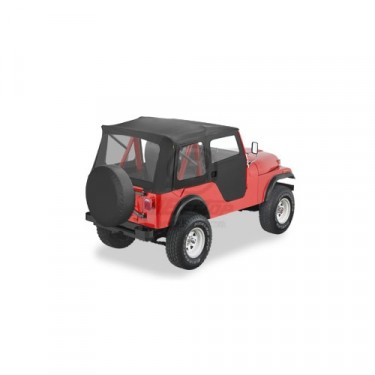 Bestop Supertop Soft Top Kit  Fits  55-75 Jeep Color: Black