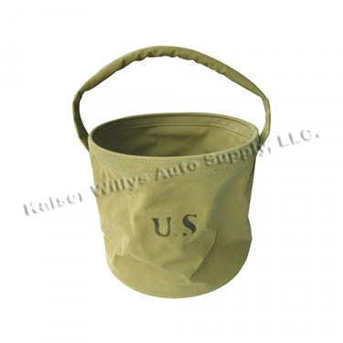 Collapsible Canvas Bucket Fits : 41-71 Jeep & Willys