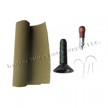 Olive Drab Canvas Repair Kit Fits : 41-71 Jeep & Willys