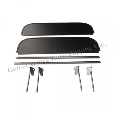 Complete Sun Visor Kit (Pair) Fits  46-51 Jeepster, Station Wagon with Planar Suspension