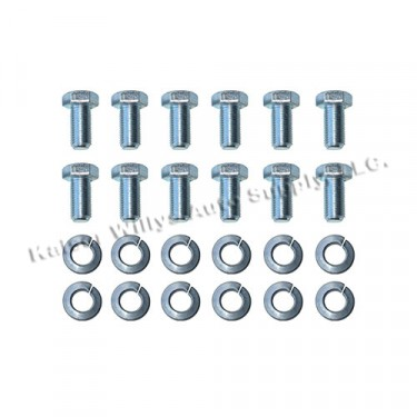 Wheel Bearing Spindle to Axle Flange Hardware Kit Fits 41-71 Jeep & Willys