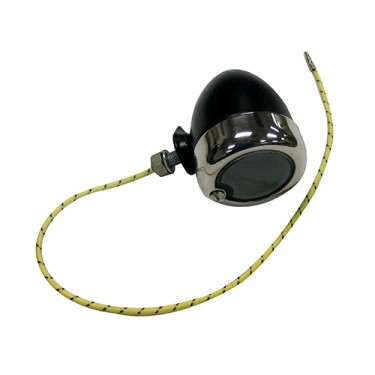 Replacement Chrome Parking Lamp Assembly (LH) Fits  46-48 CJ-2A (with recessed parking lights)