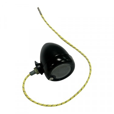 Replacement Black Parking Lamp Assembly (LH) Fits  46-48 CJ-2A (with recessed parking lights)