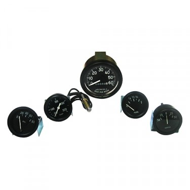 Complete Speedometer Assembly and Gauge Kit ( 6 Volt) Fits  46-64 CJ-2A, 3A, 3B