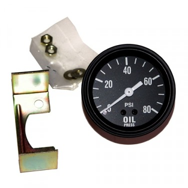 Instrument Panel Oil Gauge (6 or 12 volt)  Fits  41-45 MB, GPW