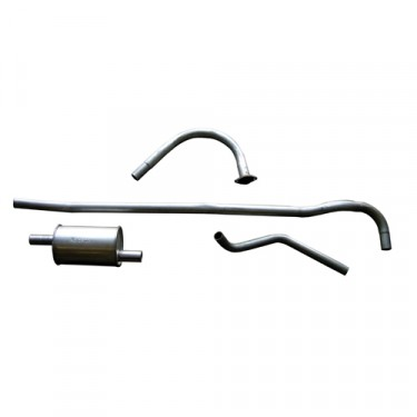 New Complete Exhaust System Kit  Fits  46-71 CJ-2A, 3A, 3B, 5