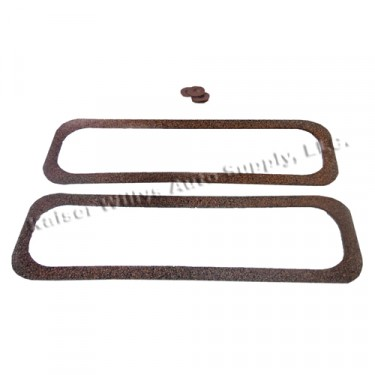 Replacement Valve Spring Side Cover Gasket Set  Fits  50-55 Station Wagon, Jeepster with 6-161 engine