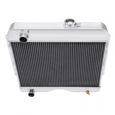 All Aluminum Radiator Assembly - USA Made,  Fits  46-64 CJ-3A, 3B