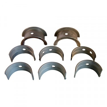 "Main Bearing Set - .010"" u.s.  Fits  50-55 Station Wagon, Jeepster with 6-161 engine"