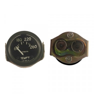 NOS Instrument Panel Temperature Gauge (24 volt) Fits 50-66 M38, M38A1 (douglas, metal connections)