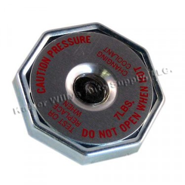 Radiator Cap (7 pound with side mount) Fits 49-71 CJ-3A, 3B, 5, 6, M38A1, Truck, Station Wagon, Jeepster