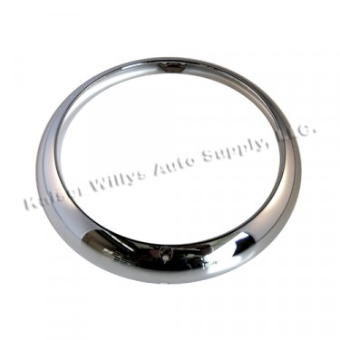 Chrome Headlight Bezel  Fits  53-71 CJ-3B, 5
