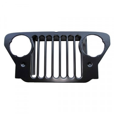 New Steel Radiator Grille  Fits 47-49 CJ-2A, 3A
