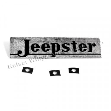 "Chrome Hood Nameplate ""Jeepster""  Fits  48-51 Jeepster"