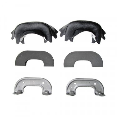 Black Arm Rest Kit Fits 46-64 Truck, Station Wagon