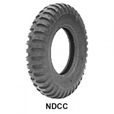 "STA Non Directional Tire 7.00 x 16"" 6 ply Round Shoulder  Fits  41-71 Jeep & Willys"