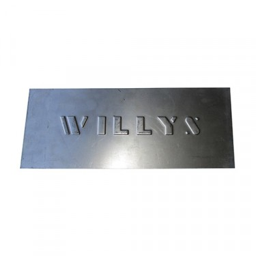 "Large ""Willys"" Patch Panel Fits 41-71 Willys & Jeep"