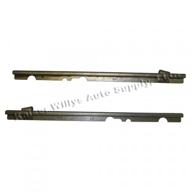 Upper Door Frame Rope Channel (pair) Fits 49-53 CJ-3A, M38