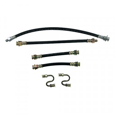 Front & Rear Brake Hose Kit (with frame to steel S-tubes) Fits : 45-66 CJ-2A, 3A, 3B, 5, M38, M38A1