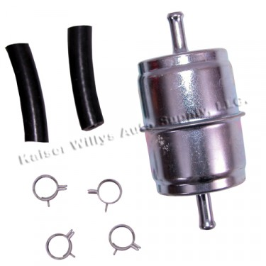 Inline Fuel Filter Kit  Fits  41-71 Jeep & Willys