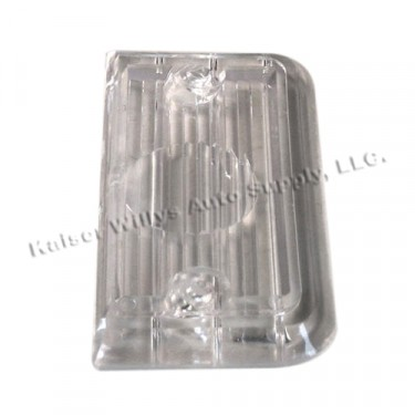 Clear Tail Light Lens (held with 2 screws on each side)  Fits  67-72 Jeepster
