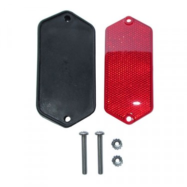 Rear Red Reflector Mount Kit Fits 66-71 Jeepster Commando