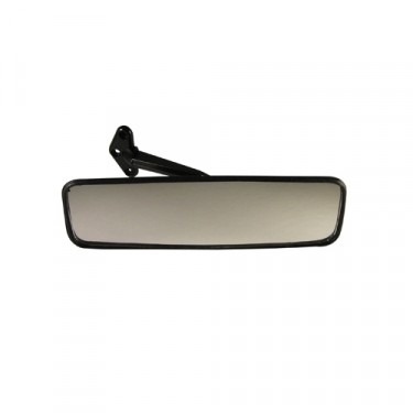 Replacement Rear View Mirror in Black Plastic  Fits  41-64 Jeep