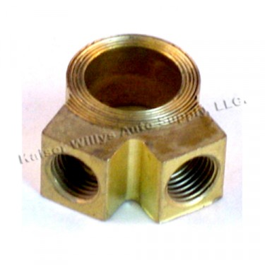 Master Cylinder Brass Outlet Fitting (2 port)  Fits  41-66 Jeep & Willys