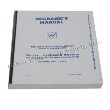 Mechanics (service) Manual  Fits  46-50 Truck, Station Wagon, Jeepster