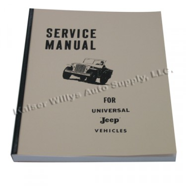 Mechanics (service) Manual  Fits  46-65 CJ-2A, 3A, 3B, 5