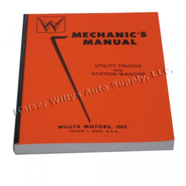 Mechanics (service) Manual  Fits  50-55 Station Wagon, Jeepster with 6-161 engine