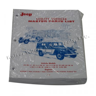 Master Parts List Manual  Fits  52-64 Truck, Station Wagon