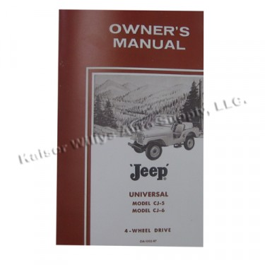 Owners Manual  Fits  64-71 CJ-5 with 4-134 engine