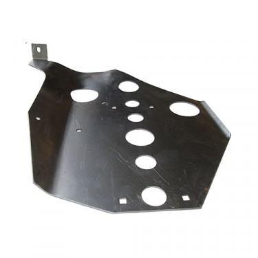 "USA Made Transmission Skid Plate in ""F"" Script Fits 41-45 GPW"