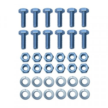 Top Bow Bracket Hardware Kit Fits: 46-64 CJ-2A, 3A, 3B