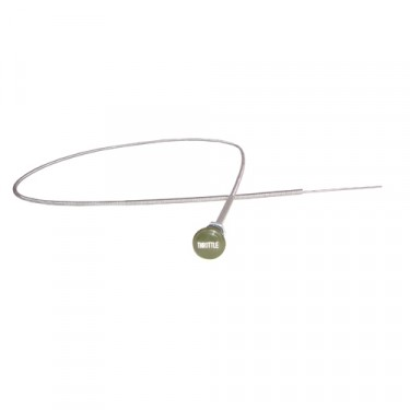 New USA Made Engraved Throttle Cable Assembly in Olive Drab Fits  41-66 MB, GPW, M38, M38A1