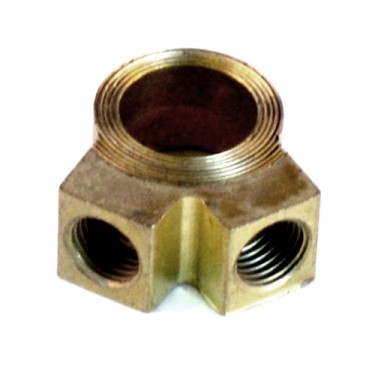 Master Cylinder Brass Outlet Fitting (2 port)  Fits 41-66 MB, GPW, CJ-2A, 3A, 3B, 5, M38, M38A1