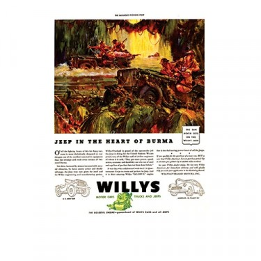 Vintage Willys Ad In the Heart of Burma