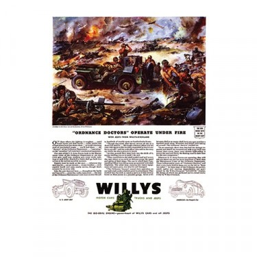 Vintage Willys Ad Ordance Doctors Operate Under Fire