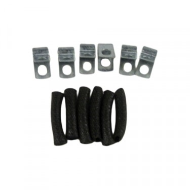Metal Brake Line to Body and Frame Clip Kit  Fits  41-71 MB, GPW, CJ-2A, 3A, 3B, 5, M38, M38A1