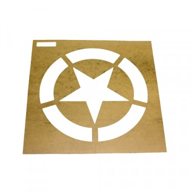 "Paint Stencil w/12"" Diameter Star ""Broken"" Invasion Circle  Fits  41-71 Jeep & Willys"
