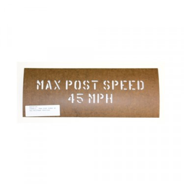 "Paint Stencil ""Max Post Speed 45 MPH""  Fits  41-71 Jeep & Willys"