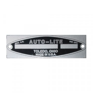 Autolite Starter Data Plate (6 or 12volt)  Fits  41-71 Willys & Jeep Vehicles
