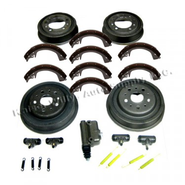 """Complete Master Brake Overhaul Kit 10""""   Fits  46-55 Jeepster, Station Wagon with Planar Suspension"""