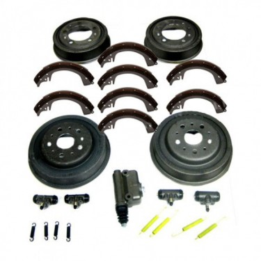 "Complete Master Brake Overhaul Kit 10""   Fits  46-55 Jeepster, Station Wagon with Planar Suspension"
