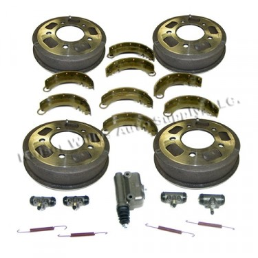 """Complete Master Brake Overhaul Kit 9""""   Fits  41-48 MB, GPW, CJ-2A before serial # 215649"""