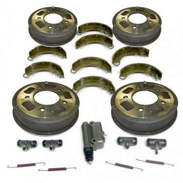 "Complete Master Brake Overhaul Kit 9""   Fits  48-53 CJ-2A, 3A"