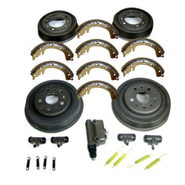 "Complete Master Brake Overhaul Kit 9""   Fits 52-58 CJ-3B, 5, M38A1 (with steel ""S"" lines)"
