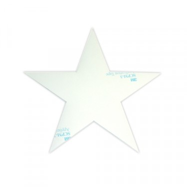 "Decal 16"" High White Hood Star  Fits  41-71 Jeep & Willys"